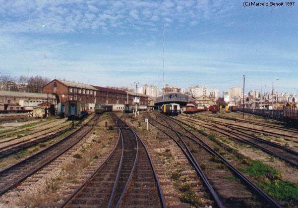 Yard of Central Station in August, 1997