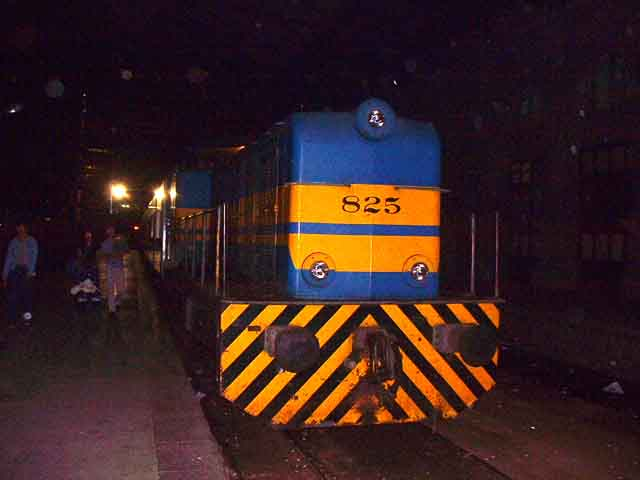 Last train arrived with Alsthom 825 at head end.  Photo:  M. Benoit