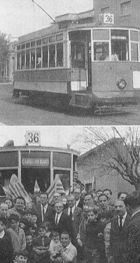 Car 595 on the inaugural day of the heritage line - Photos: archivo AUAR