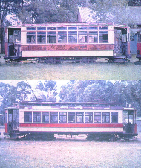 Two of the `preserved� trams - Photos:  Richard Yudin